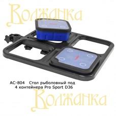 Стол рыболовный под 4 контейнера Pro Sport D36