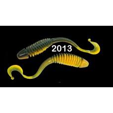 """Силиконовая приманка """"Volzhanka Tailed Worm 130"""" цвет 2013 (в упак. 6шт)"""